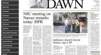 NSC meeting on Nawaz remarks today: ISPR