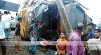 One killed in Bogura as buses collide head-on