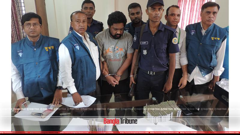 The ACC said that the raid was conducted on information that he took Tk 1.5 million from various contractors.