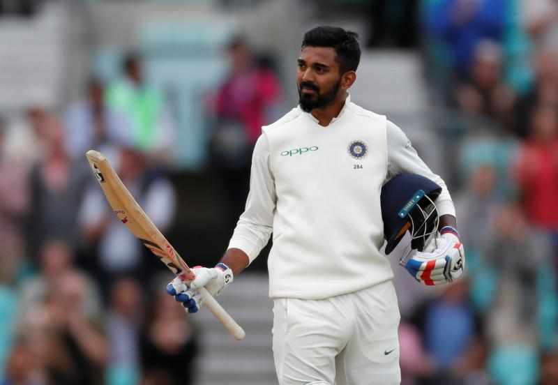England v India - Fifth Test - Kia Oval, London, Britain - September 11, 2018 India`s KL Rahul celebrates his century. Reuters