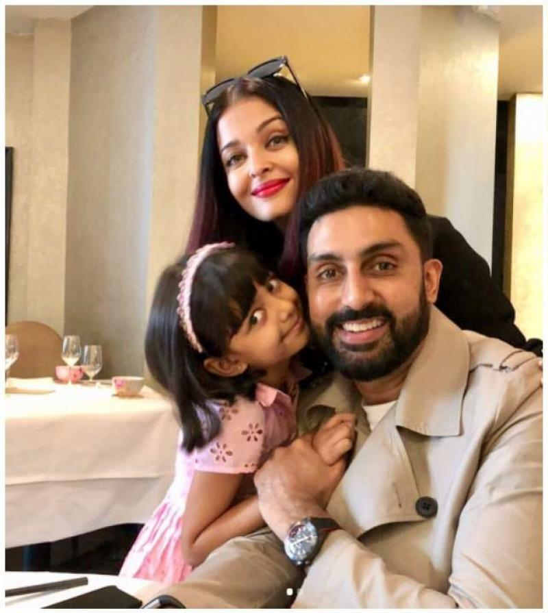 Abhishek Bachchan joins Wife Aishwarya Rai & Daughter Aaradhya Bachchan in Paris