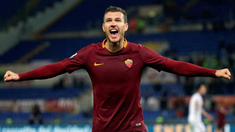 Dzeko's volley gives Roma late win, Inter stunned