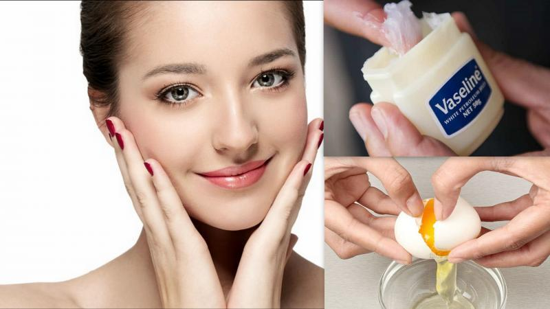 Vasline & egg for removing wrinkles