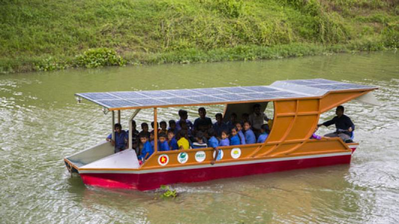 Introduction of solar boat on waterways on the cards