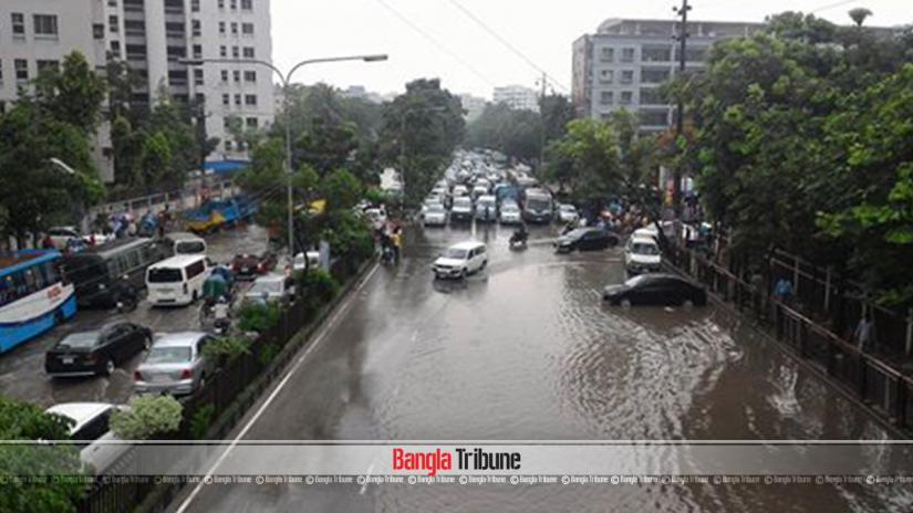 Heavy rainfall halted the regular pace in the city on May 21.