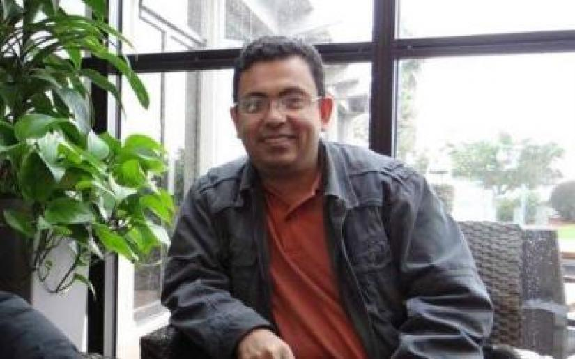 File photo shows writer-blogger Avijit Roy, who was killed by machete-wielding assailants inside Dhaka University campus while returning home from Ekushey Book Fair on Feb 26, 2014.