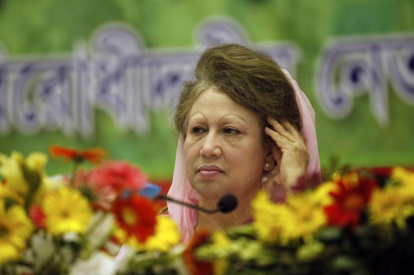 Bangladesh Nationalist Party (BNP) Chairperson Begum Khaleda Zia attends a rally in Dhaka October 20, 2013. REUTERS FILE PHOTO