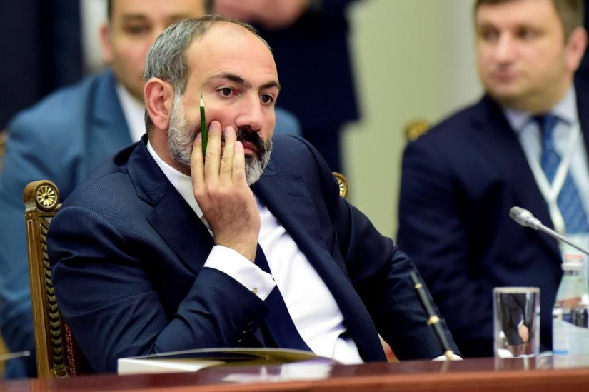 FILE PHOTO: Armenia`s acting Prime Minister Nikol Pashinyan attends a meeting of the Supreme Eurasian Economic Council in St. Petersburg, Russia December 6, 2018. Olga Maltseva/Pool via REUTERS
