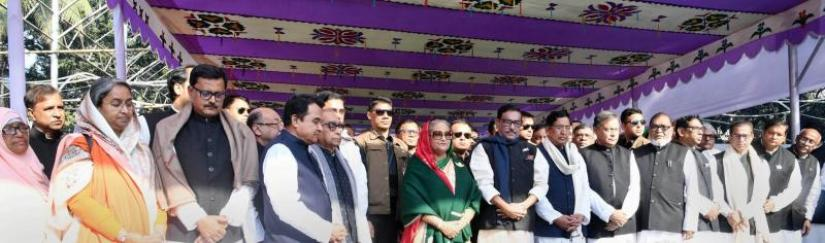 Prime Minister Sheikh Hasina and her new cabinet members to pay homage to Bangabandhu at Tungipara in Gopalganj on Wednesday (Jan 9). File Photo