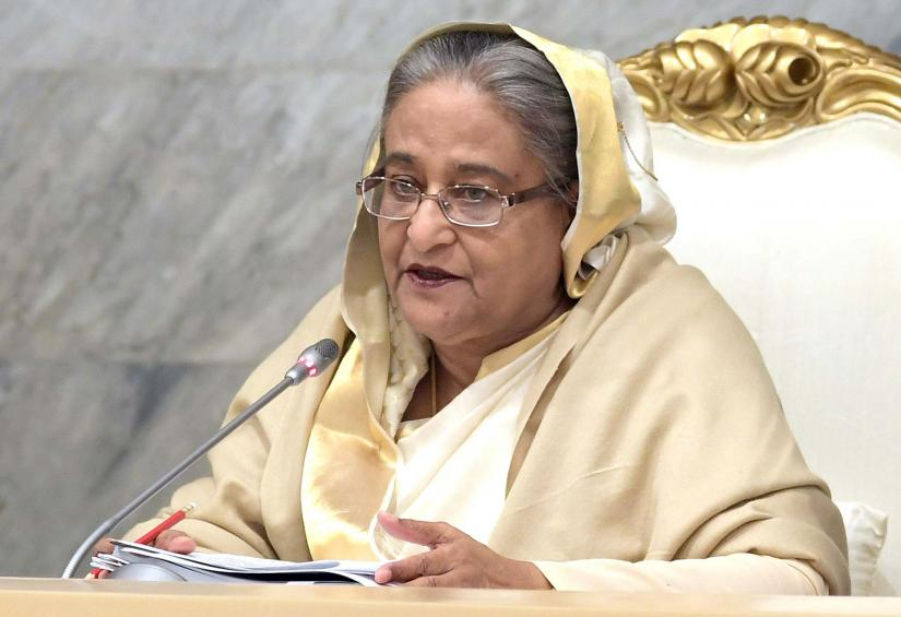 Prime Minister Sheikh Hasina addressing first meeting of the new cabinet on Jan 21. Photo/PID