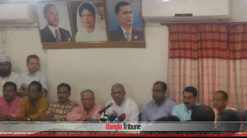BNP Secretary General Mirza Fakhrul Islam Alamgir speaking at a media call at the party headquarters on Sunday (Mar 17).