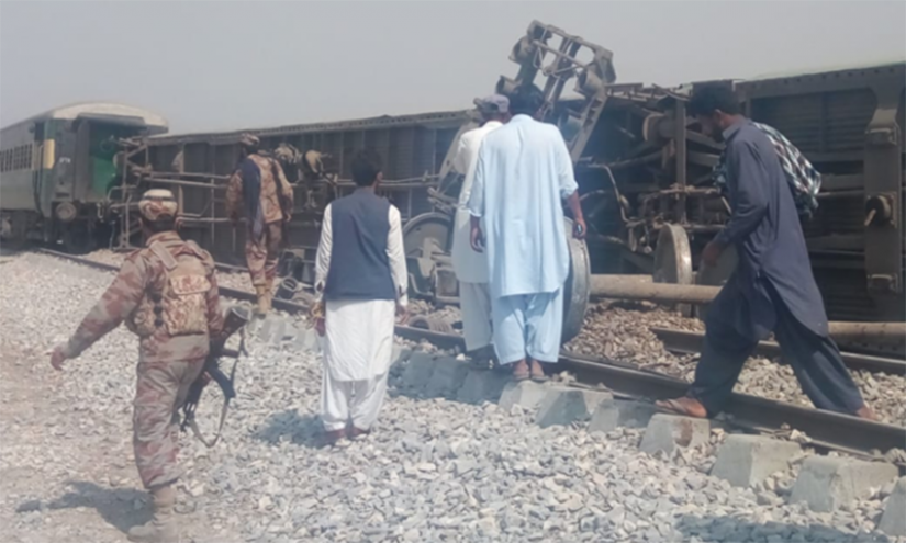 Four people were killed and 10 injured in Pakistan on Sunday when a bomb went off on a train track in the resource-rich province of Baluchistan. Photo/DAWN