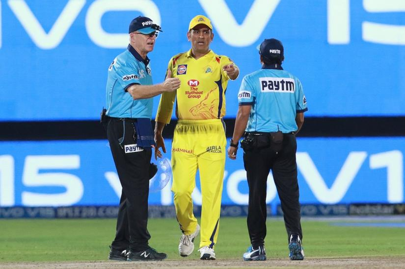 Hailed as `Captain Cool` during his trophy-laden years as India skipper, an unusually fired-up Dhoni stepped onto the field to remonstrate with umpire over a contentious no-ball call in a dramatic final over against Rajasthan Royals on Thursday (Apr 11). Twitter(@IPL