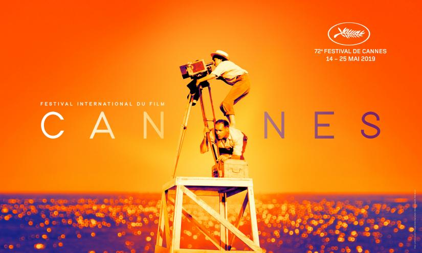 The official poster of the 72nd Cannes International Film Festival released by the Cannes Film Festival organization