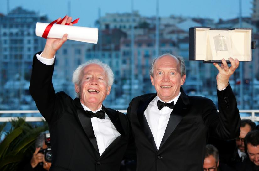 72nd Cannes Film Festival - Photocall after Closing ceremony - Cannes, France, May 25, 2019. Directors Jean-Pierre Dardenne and Luc Dardenne, Best Director award winners for their film `Le jeune Ahmed` (Young Ahmed) pose. REUTERS