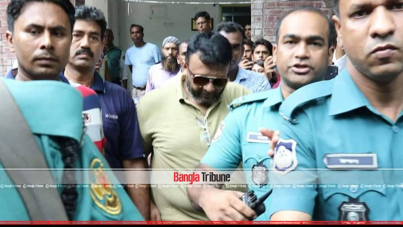 Ex-Sonagazi OC Moazzem Hossain at Shahbagh Police Station on Monday (Jun 17, 2019). Photo: Sazzad Hossain.