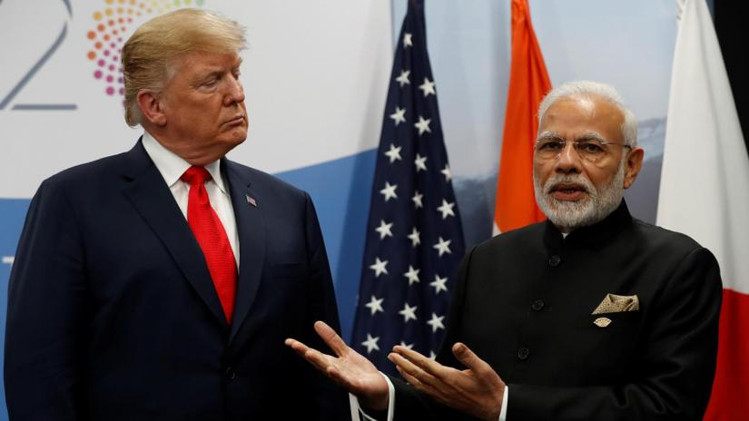 US President Donald Trump meets Indian Prime Minister Narendra Modi during the G20 leaders summit in Buenos Aires, Argentina Nov 30, 2018. REUTERS/File Photo