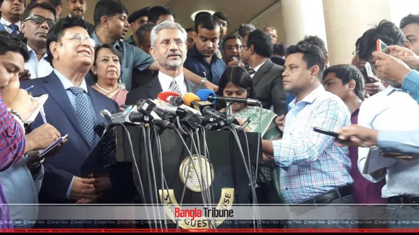 Indian Foreign Minister S Jaishankar was addressing the media after a bilateral meeting with Foreign Minister AK Abdul Momen on Tuesday (Aug 20).