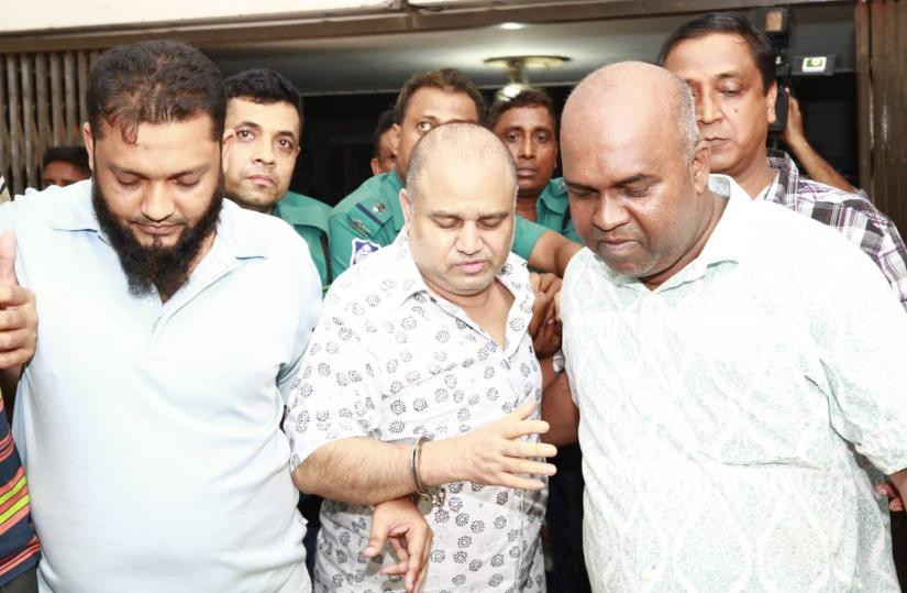 SM Golam Kibria Shamim, a top government-listed contractor, is seen escorting to the court in Dhaka on Saturday (Sept 21).