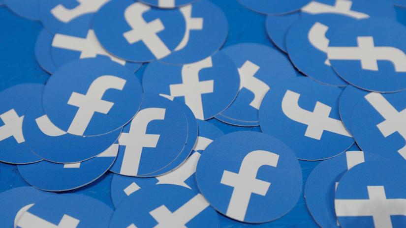 FILE PHOTO: Stickers bearing the Facebook logo are pictured at Facebook Inc`s F8 developers conference in San Jose, California, US, Apr 30, 2019. REUTERS