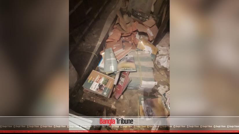 On Tuesday (Oct 22), RAB carried out a drive at the education institute from 11pm till 2am of Wednesday (Oct 23). Around 16,000 books hoarded illegally in the school's store room were confiscated.