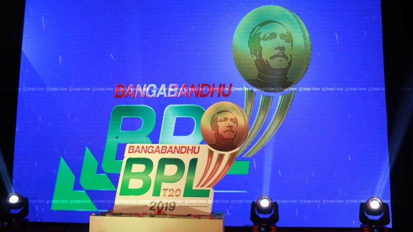 The logo of Bangabandhu BPL is seen during the unveiling ceremony at a Dhaka hotel on Nov 16, 2019. SAZZAD HOSSAIN/File Photo