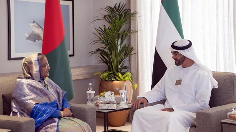 Crown Prince of Abu Dhabi and Deputy Supreme Commander of the UAE Armed Forces, Sheikh Mohamed bin Zayed Al Nahyan gave the hint while paying a courtesy call on Bangladesh Prime Minister Sheikh Hasina at Dubai on the side lines of the Dubai Air Show, 2019 at the Dubai World Central (DWC). PID