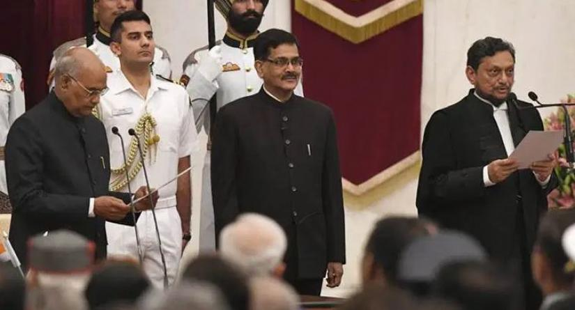Justice Bobde, 63, is the fourth judge from Maharashtra to hold the country's highest judicial post. Photo: President`s office of India