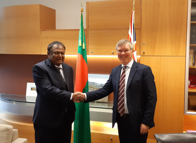 Commerce Minister Tipu Munshi meets New Zealand Trade and Export Growth Minister David Parker at the Parliament House of Wellington on Monday (Nov 18).