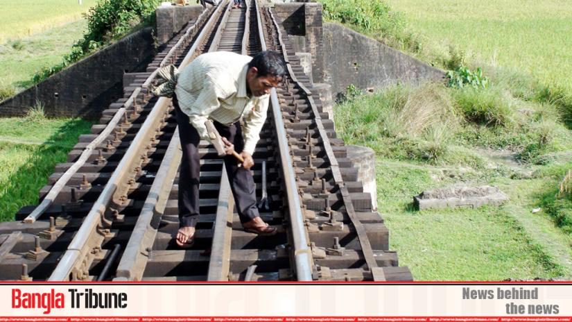Miscreants have removed some nuts and bolts of 52km of rail line slipper from Habiganj area of the Dhaka-Sylhet rail line.