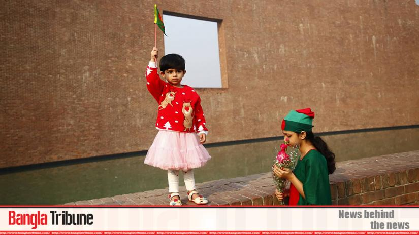 Children also attended at the Martyred Intellectuals Memorial in the capital's Mirpur with flowers in hand to remember the sacrifice of the intellectuals on Dec 14, 1971 at the dawn of independence.