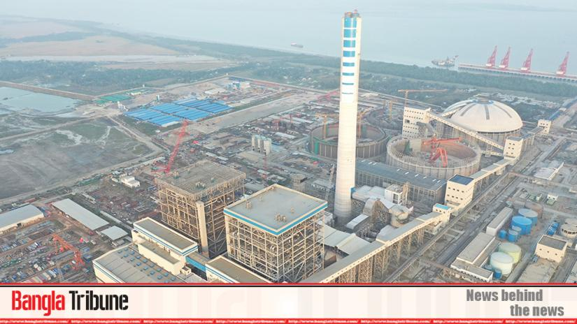 Electricity production in Payra Thermal Power Plant goes in test-run on Monday (Jan 13). The picture was taken on Jan 13, 2020.