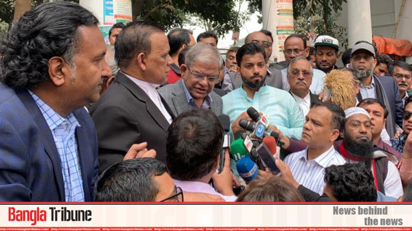 BNP Secretary General Mirza Fakhrul Islam Alamgir during the campaign of the party`s Dhaka South mayor aspirant Mirza Fakhrul Islam Alamgir on Thursday (Jan 23).