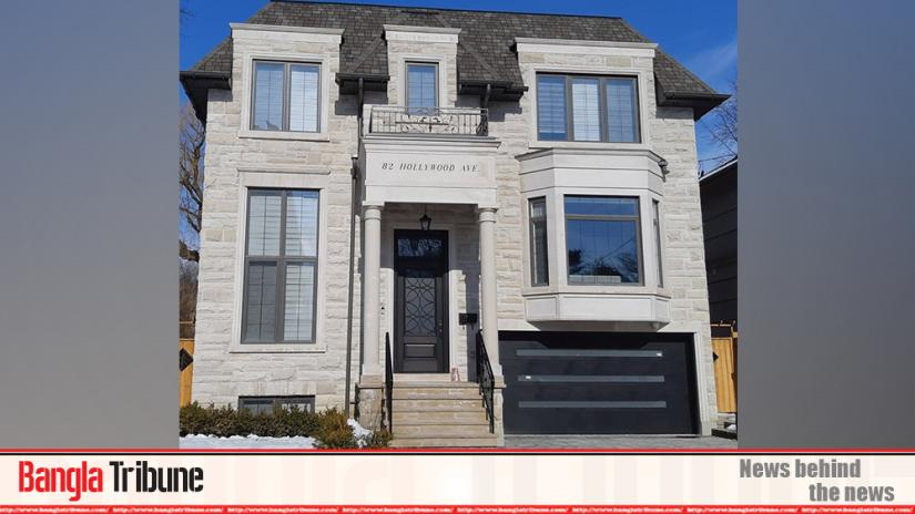Photo shows the renovated detached-house owned by Desh TV Director Arif Hsasn in Toronto's North York.