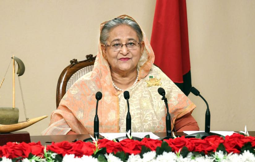 Prime Minister Sheikh Hasina addresses the nation from her office in Dhaka on Jan 7, 2020. Focus Bangla/File Photo